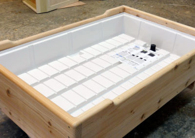Rolling Garden beds come with PATENTED Grow Tray & Bed Liner as standard feature